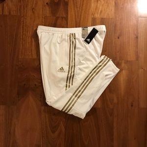 Men's White adidas track pants size XL